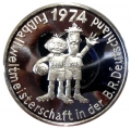 Medalla conmemorativa Mundial Futbol Alemania 1974