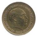 Moneda 001 peseta 1963 *67. MBC