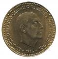Moneda 001 peseta 1966 *68. MBC+