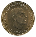 Moneda 001 peseta 1966 *70. EBC