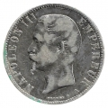 Moneda 005 Francos Francia 1856 (A) MBC. Ag. 0,900