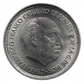 Moneda 005  pesetas 1957 *75.PROOF
