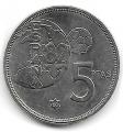 Moneda 005 pesetas 1975*80 .SC. Error del Mundial