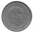 Moneda 025  pesetas 1957 - BA.MBC Exposición de Barcelona
