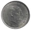 Moneda 025  pesetas 1957 *58.SC