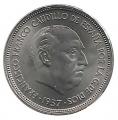 Moneda 025  pesetas 1957 *70.SC