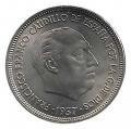 Moneda 025  pesetas 1957 *70.MBC