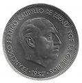 Moneda 025  pesetas 1957 *71.SC