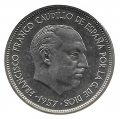 Moneda 025  pesetas 1957 *61 MBC