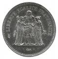 Moneda 050 Francos Francia 1980 FDC. Ag. 0,900