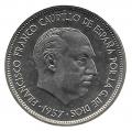 Moneda 050  pesetas 1957 *68. SC (Estrella Arreglada)