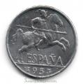 Moneda 0,10 céntimos peseta 1945.MBC+