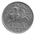 Moneda 0,10 céntimos peseta 1941. S/C