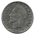 Moneda 0,20 Centimos Francia 1866 MBC. Ceca K