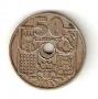 Moneda 0,50 céntimos peseta 1949 *51.MBC.TALADRO