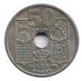 Moneda 0,50 céntimos peseta 1949*51.MBC - FLECHAS INVERTIDAS