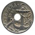 Moneda 0,50 céntimos peseta 1949*52.EBC