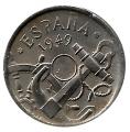 Moneda 0,50 céntimos peseta 1949. MBC Sin Taladro Central