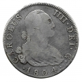 Moneda 1804. 04 Reales Carlos IIII (1804-FA) Madrid. MBC