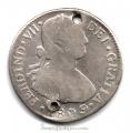 Moneda 1809. 02 Reales Fernando VII (1809-M).GUATEM.BC