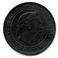 Moneda 1875. Carlos VII 05 Centimos Peseta 1875. MBC+