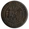 Moneda 1875. Carlos VII 10 Centimos Peseta 1875. MBC+