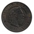 Moneda 1875. Carlos VII 10 Centimos Peseta 1875. EBC