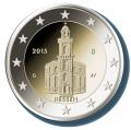 Moneda 2 euros Alemania 2015 Hessen. Juego 5 monedas (A,D,F,G