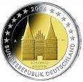 Moneda 2 euros Alemania 2006. Juego (A, D, F, G, J)