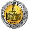 Moneda 2 euros Alemania 2009 Saarland. Juego 5 cecas (A,F,G,D,J)