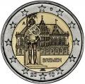 Moneda 2 euros Alemania 2010. Juego de 5 monedas (A,D,G,F,J)