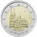 Moneda 2 euros Alemania 2011. 1 ceca