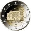 Moneda 2 euros Alemania 2017 - Renania. 1 ceca