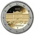 Moneda 2 euros Alemania 2019 - Bundesrat. Juego 5 Cecas