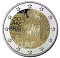 Moneda 2 euros Alemania 2019 (una ceca). Muro