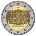 Moneda 2 euros Alemania 2020 Sanssouci. Juego 5 Cecas A,D,G,F,J