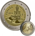Moneda 2 euros de España (2014 - Parque Güell y Gaudí)