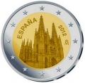 Moneda 2 euros de España (2012). Catedral Burgos