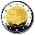 Moneda 2 euros de España 2014. Juan Carlos I y Felipe VI