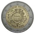 Moneda 2 euros de Austria 2012 - X Aniversario Euro