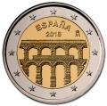 Moneda 2 euros de España 2016. Acueducto Segovia