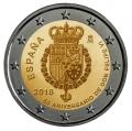 Moneda 2 euros de España 2018. 50 Aniversario Felipe VI
