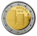Moneda 2 euros de España 2019. Muralla de Avila