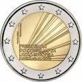 Moneda 2 euros de Portugal 2021. Presidencia Consejo
