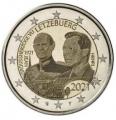 Moneda 2 euros de Luxemburgo 2021. Duque Jean (holograma)