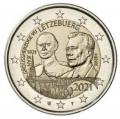 Moneda 2 euros de Luxemburgo 2021. Duque Jean