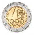 Moneda 2 euros de Portugal 2021. JJOO Tokio