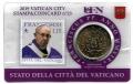 Moneda 50 centimos euro Vaticano 2019. Sello Papa Francisco Nº23