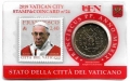 Moneda 50 centimos euro Vaticano 2019. Sello Papa Francisco Nº24
