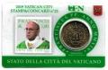 Moneda 50 centimos euro Vaticano 2019. Sello Papa Francisco Nº25